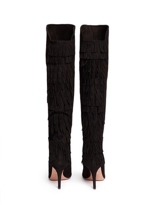 Back View - Click To Enlarge - Aquazzura - 'Jagger' fringe suede boots