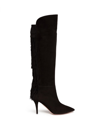 Main View - Click To Enlarge - Aquazzura - 'Jagger' fringe suede boots