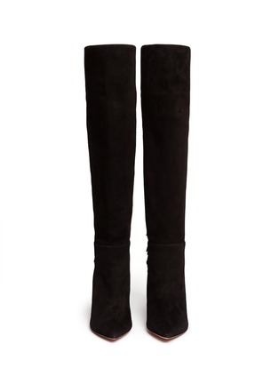 Figure View - Click To Enlarge - Aquazzura - 'Jagger' fringe suede boots
