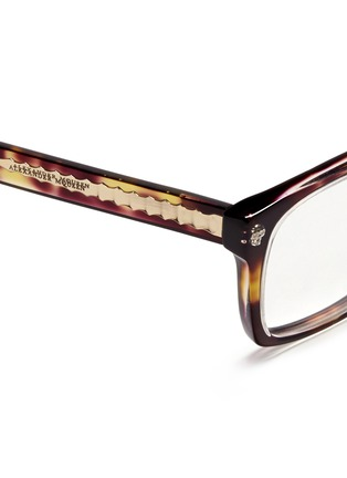Detail View - Click To Enlarge - Alexander McQueen - Skull stud square optical glasses