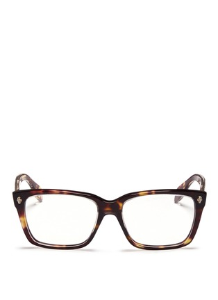 Main View - Click To Enlarge - Alexander McQueen - Skull stud square optical glasses
