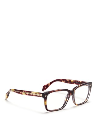 Figure View - Click To Enlarge - Alexander McQueen - Skull stud square optical glasses