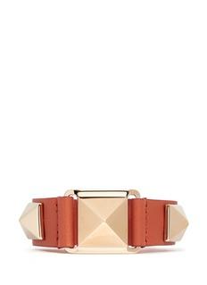 VALENTINO'Rockstud' large leather bracelet
