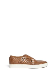 Doucal's 'Mike' basketweave leather monk strap sneakers