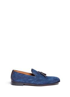 Doucal's'Max' tassel denim loafers