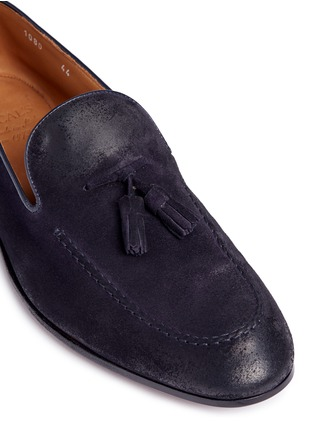 Detail View - Click To Enlarge - Doucal's - 'Max' tassel suede loafers