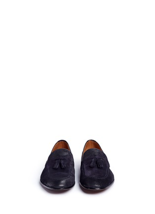 Front View - Click To Enlarge - Doucal's - 'Max' tassel suede loafers