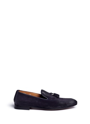 Main View - Click To Enlarge - Doucal's - 'Max' tassel suede loafers