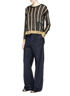 Acne Studios'Blanca' metallic trim stripe sweater