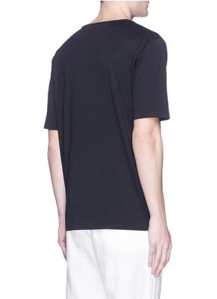 Back View - Click To Enlarge - Haider Ackermann - Slogan foil print T-shirt