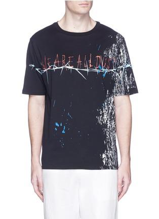 Main View - Click To Enlarge - Haider Ackermann - Slogan foil print T-shirt