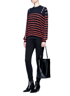 T By Alexander Wang Slit stripe cotton sweater