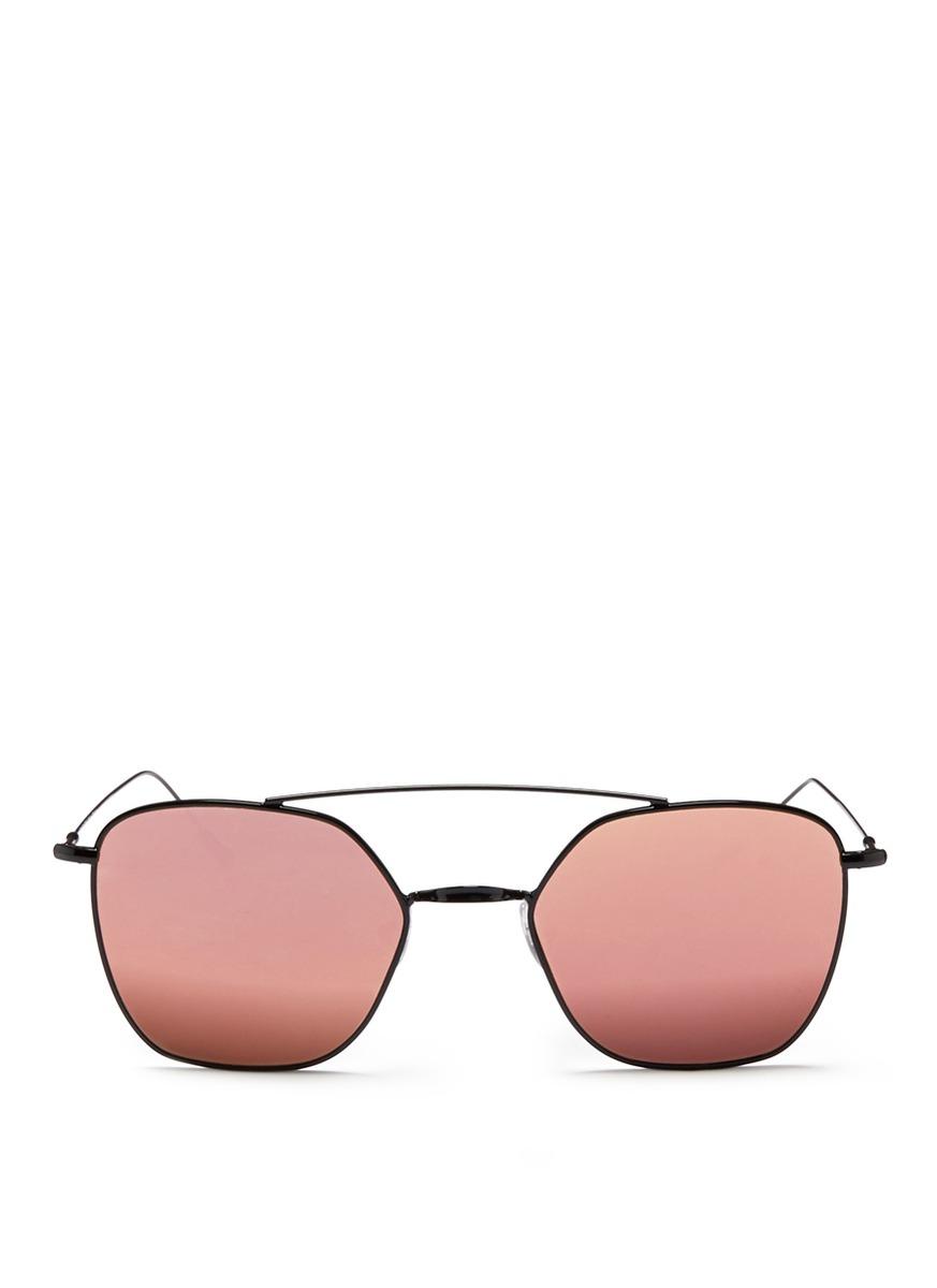 Dolce Vita metal angular aviator mirror sunglasses by Spektre