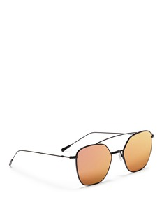 Spektre 'Dolce Vita' metal angular aviator mirror sunglasses