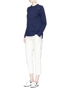 VICTORIA, VICTORIA BECKHAMButton shoulder cotton sweater