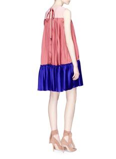 Roksanda'Malene' colourblock pleated georgette and satin twill dress