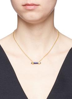 W.Britt'Mini Bar' lapis pendant 18k yellow gold necklace