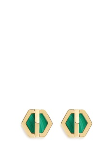 W.Britt 'Cross Hex' inset malachite earrings