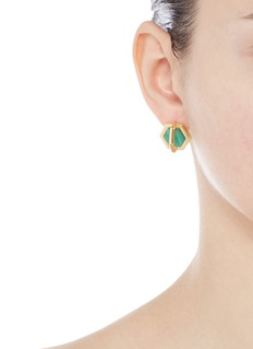 W.Britt'Cross Hex' inset malachite earrings