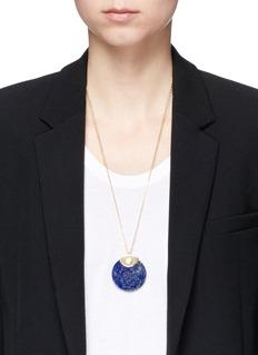 W.Britt'Circle' lapis pendant necklace