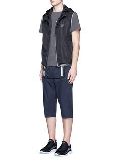 DyneReflective trim cropped jogging pants