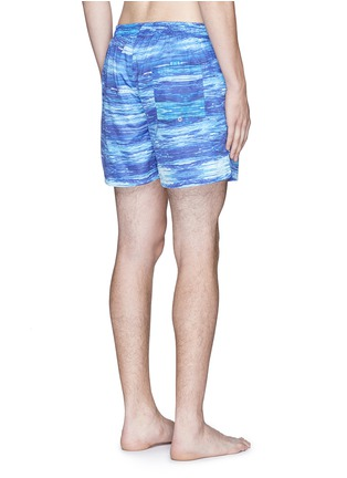 Back View - Click To Enlarge - Insted We Smile - 'The Olson' wave print swim shorts