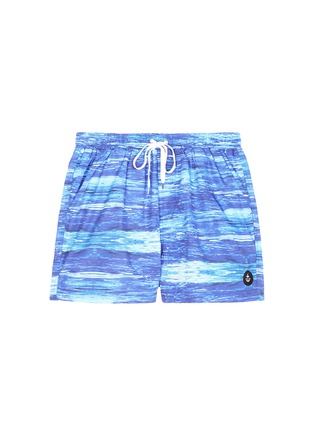 Main View - Click To Enlarge - Insted We Smile - 'The Olson' wave print swim shorts