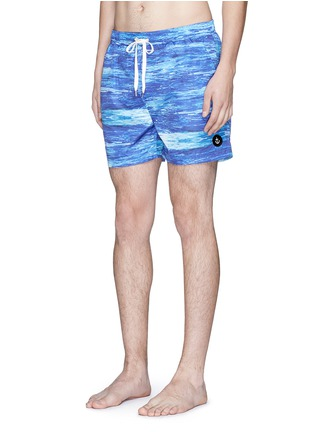 Figure View - Click To Enlarge - Insted We Smile - 'The Olson' wave print swim shorts