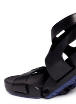 'Figophile' leather strap hinged sandals