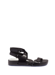 Figs By Figueroa 'Figophile' leather strap hinged sandals