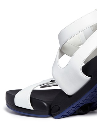 Detail View - Click To Enlarge - Figs By Figueroa - 'Figophile' leather strap hinged sandals