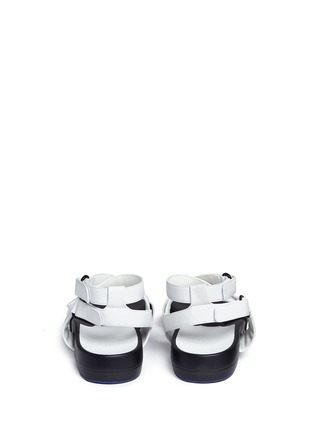 Back View - Click To Enlarge - Figs By Figueroa - 'Figophile' leather strap hinged sandals