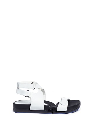 Main View - Click To Enlarge - Figs By Figueroa - 'Figophile' leather strap hinged sandals