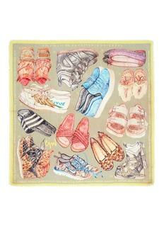 Cjw'MV Shoe' wool gauze scarf