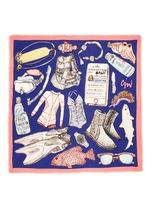 'Scuba' wool gauze scarf