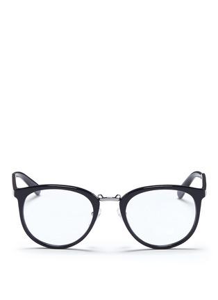 Main View - Click To Enlarge - Prada - Round acetate optical glasses