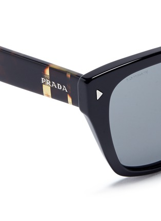 Prada - Stripe tortoiseshell temple acetate sunglasses