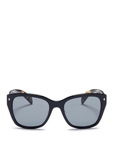 Prada Stripe tortoiseshell temple acetate sunglasses