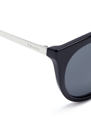 Detail View - Click To Enlarge - Prada - Tortoiseshell effect acetate cat eye sunglasses
