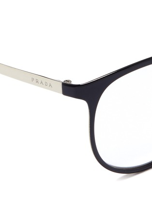 Prada-Coated front metal round optical glasses