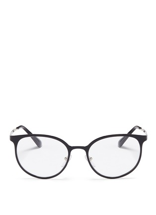 Main View - Click To Enlarge - Prada - Coated front metal round optical glasses