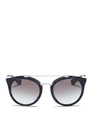 Prada - Tortoiseshell effect interior acetate cat eye sunglasses