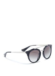 PradaTortoiseshell effect interior acetate cat eye sunglasses