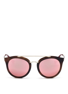 Prada Tortoiseshell effect interior acetate mirror sunglasses