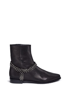 Stuart Weitzman 'Chain It' chain leather ankle boots