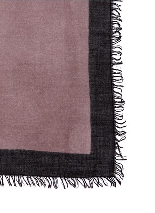 Detail View - Click To Enlarge - Faliero Sarti - Ombré cashmere-silk border scarf