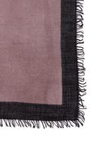 Ombré cashmere-silk border scarf