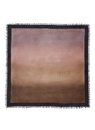 Main View - Click To Enlarge - Faliero Sarti - Ombré cashmere-silk border scarf