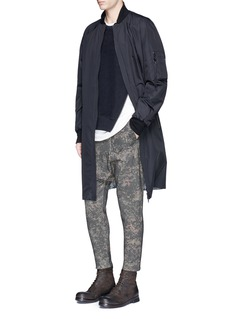 Den Im By Siki Im Camouflage print cropped drop crotch sweatpants