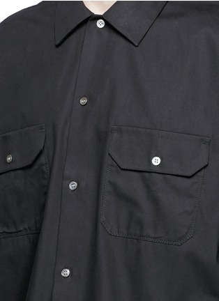 Detail View - Click To Enlarge - Acne Studios - 'Santos' oversized cotton utility shirt